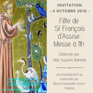 Invitation – Fête de St François d'Assise