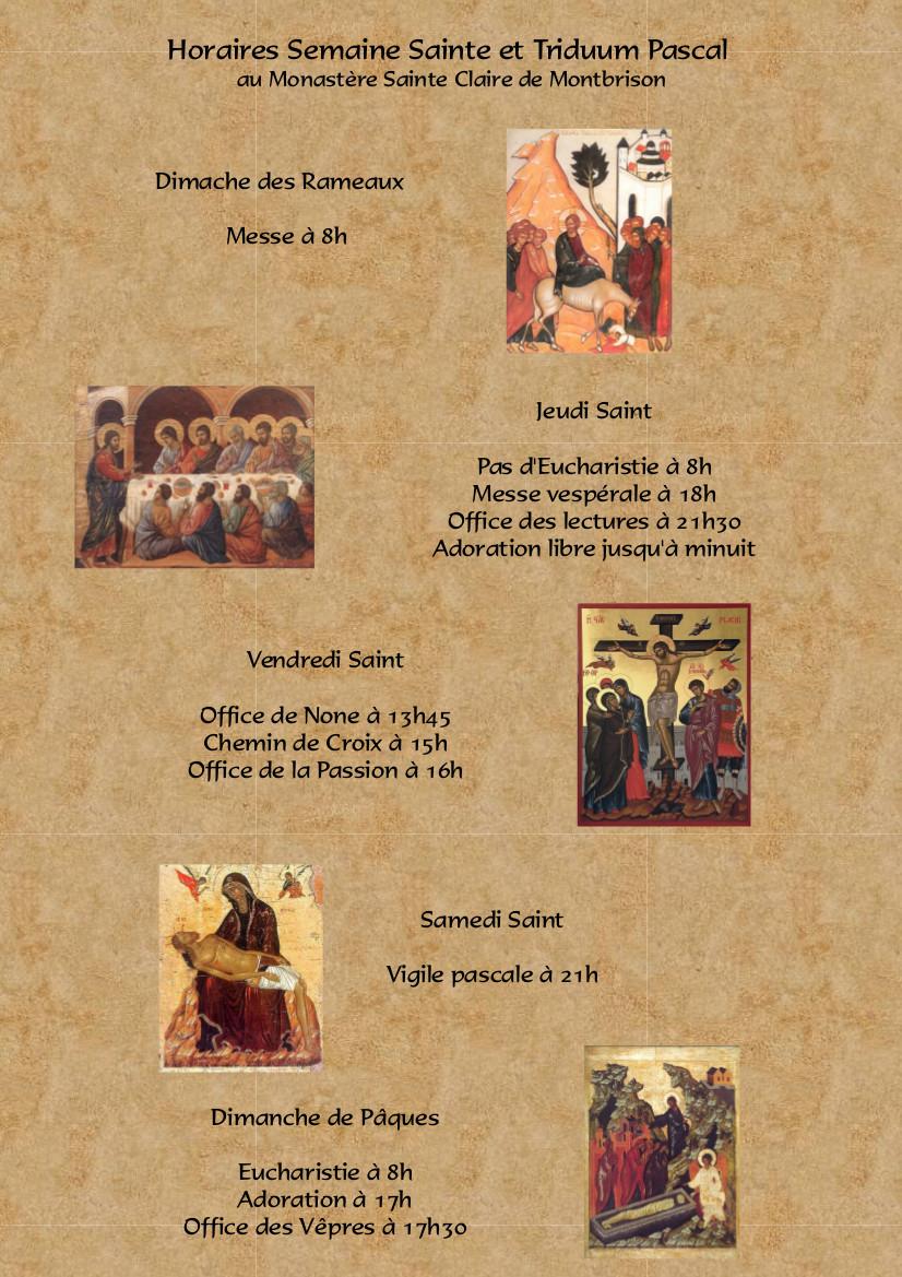 horaires pâques